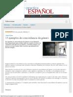 15 ejemplos de concordancia de género - Practica Español