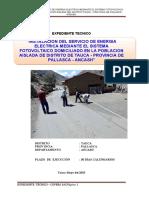 INSTALACION DEL SERVICIO DE ENERGIA ELECTRICA MEDIANTE EL SISTEMA FOTOVOLTAICO DOMICILIARIO EN LA POBLACION AISLADA DEL DISTRITO TAUC1