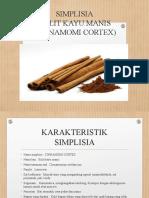SIMPLISIA kayu manis