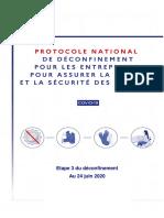 Protocole National de Deconfinement 24 juin