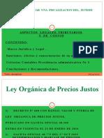 Aspectos Legales, de Contables y Tributarios de la Ley de Precios Justos