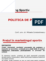 Mk sportiv - curs 5 (politica de pret si distributie) (1).ppt