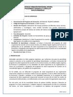 Guía Aprendizaje Evaluar y Promover participación PSO maye