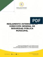 Reglamento Interno de La Direccion General de Seguridad p Blica Municipal