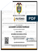 ALEXANDER CAVIEDES RODRIGUEZ