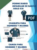Ficha uniformes colegio 2020