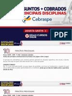 10 Assuntos + Cobrados das 10 Principais Disciplinas - Patricia Dreyer