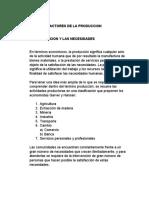 FACTORES DE LA PRODUCCION