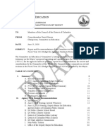 DRAFT - FY21 Committee Budget Report