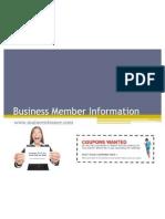 Business Member Information
