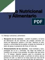 Manejo Nutricional y Alimentario