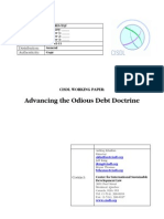 Odious Debt Doctrine