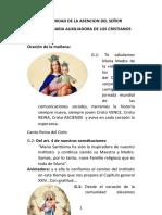 SOLEMNIDAD DE LA ASENCION DEL SEÑORCON MARIA LA MADRE AUXILIADORA DE LOS TIEMPOS DIFICILES