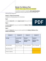 Module Two Wellness Plan