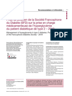 2019 PRISE DE POSITION DE LA SFD SUR LA PEC DE L'HYPERGLYCEMIE DU DIABETIQUE DE TYPE 2.pdf