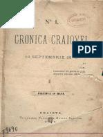 Cronica Craiovei - nr.1