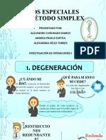 CASOS ESPECIALES DEL MÉTODO SIMPLEX