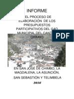 PRESUPUESTO PARTICIPATIVO CHIMBO 2016
