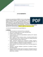 ACTA DE NOMBRAMIENTO REPRESENTANTE SG-SST