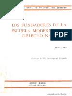 Los Fundadores de La Escuela Moderna Del Derecho Natural - Michel Villey