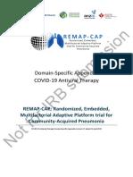 COVID-19 Antiviral Therapy Domain-Specific Appendix Version 2.0 dated 01 April 2020