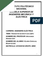 Transistor de Efecto de Campo_ Olvera Carvajal Edgar Ulises