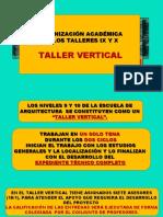 Presentación del Taller IX y X 2019
