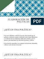 Elaboración de políticas