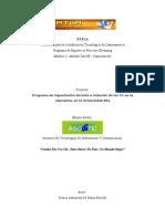 Programa de Capacitación docente e inclusión de las Tic en la educación, en la Universidad Alfa