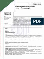 _ ABNT NBR 6028.2003  - Resumo