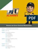 Ementa Centrais Monitoráveis JFL Alarmes