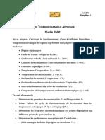DS Thermodynamique Appliquée 2015