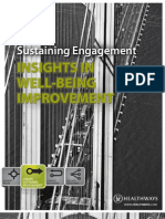 Sustaining Engagement - Insights in Well-Being Improvement