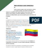 LAS MIGRACIONES SOCIALES CASO VENEZUELA informe