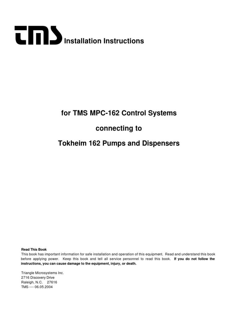 mpc tokheim 162 installation guide power supply electrical wiring rh es scribd com 73 Super Beetle Wiring Diagram 73 Super Beetle Wiring Diagram