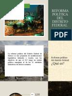 reforma politica del distrito federal