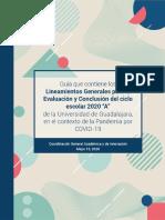 Guía Lineamientos Evaluación UdeG 2020-A