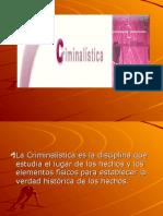 CRIMINALISTA (RESUMEN)