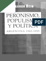 Raanan Rein - Peronismo, Populismo y Politica.pdf