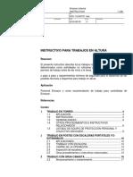 INSTRUCTIVO PARA TRABAJOS EN ALTURA 20160830 MODIFICADO REV. D 2018