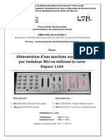 Alimentation d'une machine asynchrone par onduleur MLI en utilisant la carte Dspace 1104