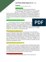 observaciones  y recomendaciones secundaria primer grado