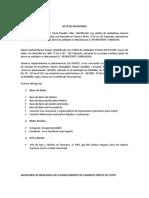 Acta de inventario - Establecimiento de comercio
