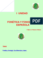 CLASE_1_FONETICA Y FONOLOGIA ESPAÑOLA I UNIDAD