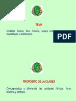 CLASE_2_FONETICA Y FONOLOGIA ESPAÑOLA I UNIDAD