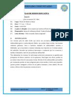 PLAN DE SESION - VACUNAS EN MENORES DE 5 AÑOS