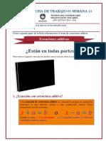 FICHA DE TRABAJO 02 SEMANA 15_Repaso de ecuaciones aditivas