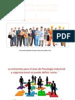 entrevista inicial industrial y organizacional