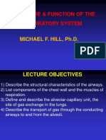 M. Hill Physiology (20) STRUCTURE AND FUNCTION OF THE RESPIRATORY SYSTEM