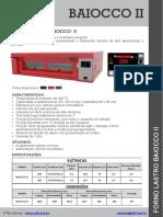 Especificações Baiocco II CV